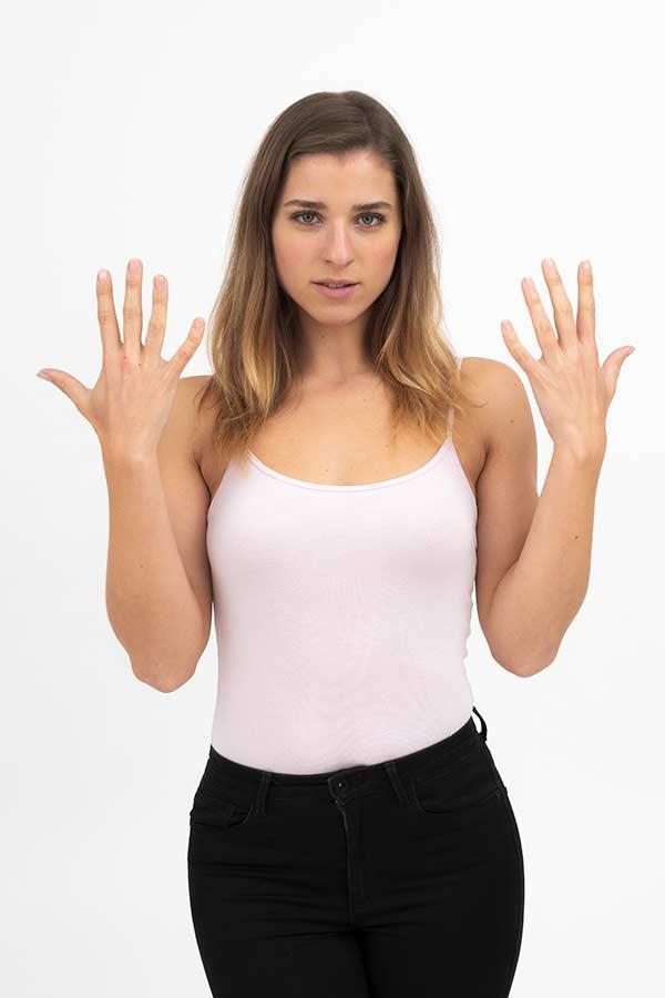 Polaroid für Modelagentur - Hände Außenseite